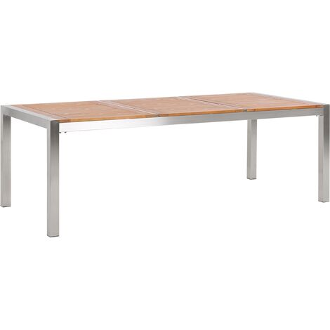 Garden Table Eucalyptus Wood Top 220 x 100 cm GROSSETO