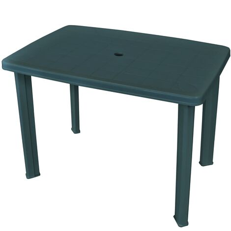 Garden Table Green 101x68x72 cm Plastic