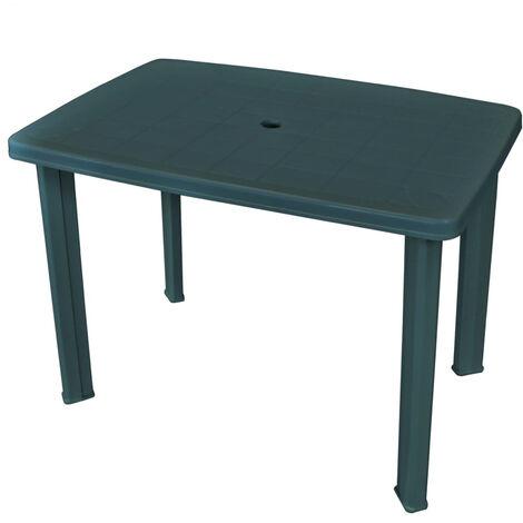 Garden Table Green 101x68x72 cm Plastic