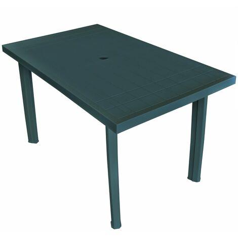 Garden Table Green 126x76x72 cm Plastic