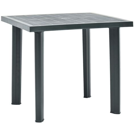 Garden Table Green 80x75x72 cm Plastic