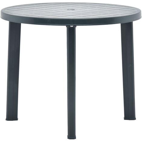 Garden Table Green 89 cm Plastic