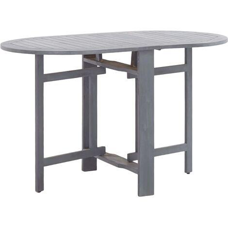 Garden Table Grey 120x70x74 cm Solid Acacia Wood