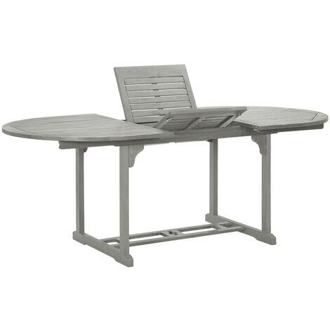 Garden Table Grey 200x100x74 cm Solid Acacia Wood