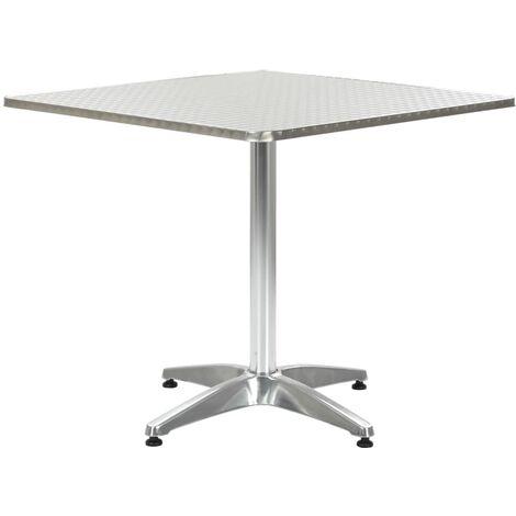 Garden Table Silver 80x80x70 cm Aluminium