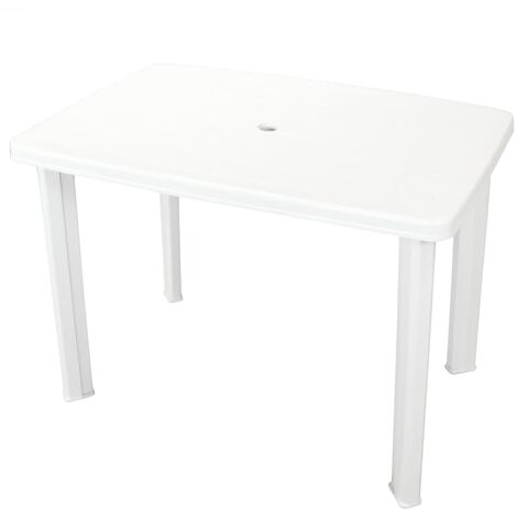 Garden Table White 101x68x72 cm Plastic