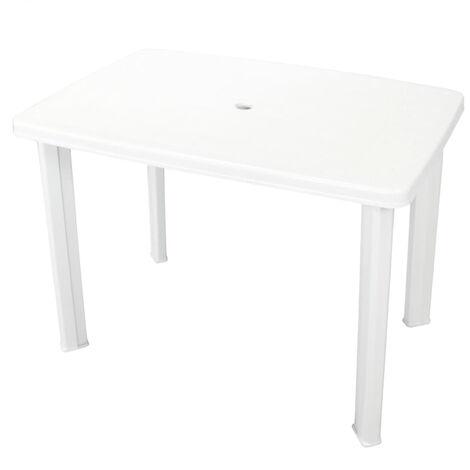 Garden Table White 101x68x72 cm Plastic