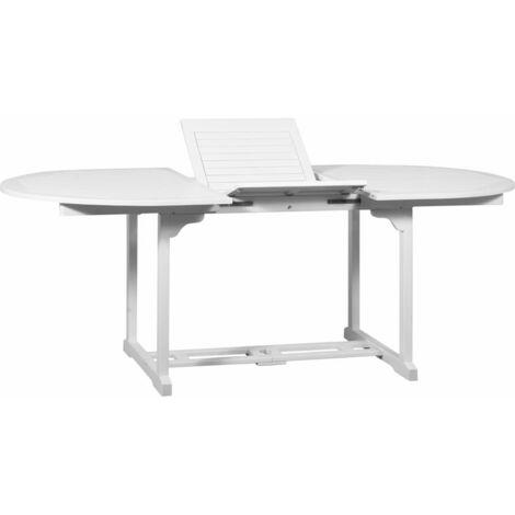 Garden Table White 200x100x74 cm Solid Acacia Wood