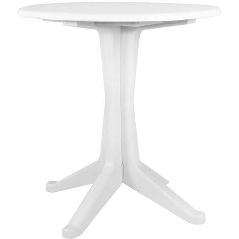Garden Table White 70 cm Plastic