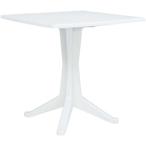 Garden Table White 70x70x71.7 cm Plastic