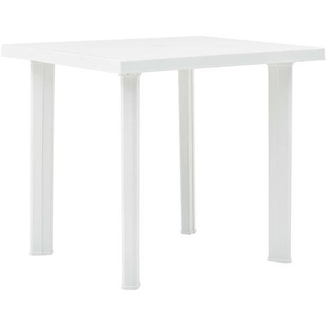 Garden Table White 80x75x72 cm Plastic
