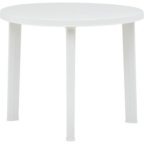 Garden Table White 89 cm Plastic