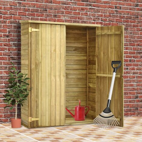 Garden Tool Shed 123x50x171 cm Impregnated Pinewood