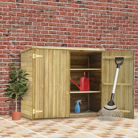 Garden Tool Shed 135x60x123 cm Impregnated Pinewood - Brown