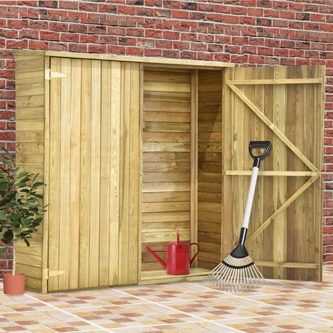 Garden Tool Shed 163x50x171 cm Impregnated Pinewood - Brown