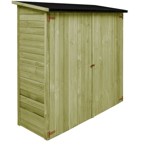 Garden Tool Shed Impregnated Pinewood 182x76x175 cm - Green