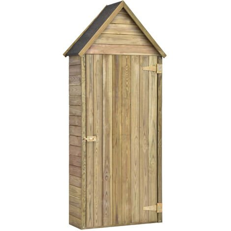 Garden Tool Shed with Door 77x37x178 cm Impregnated Pinewood