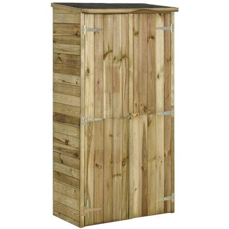 Garden Tool Storage Shed Pinewood 85x48x177 cm