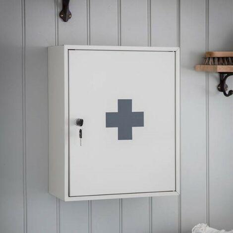 Garden Trading Lockable Steel Medicine First Aid Cabinet Bathroom Wall Cabinet