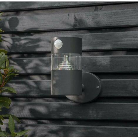 Garden Trading Putney Solar Garden Wall Light Motion Sensor PIR Grey Steel