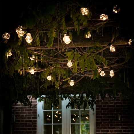 Garden Trading Solar Festoon Golf Ball Bulb String Lights Garden 20 Lights