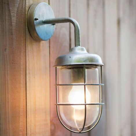 Garden Trading St Ives Harbour Nautical Mains Garden Wall Light Fishermans Cage