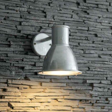 Garden Trading St Ives Mini Bay Mains Garden Wall Light Galvanised Steel