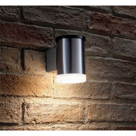 Garden Trading Sutton Solar Garden Wall Light LED Stainless Steel
