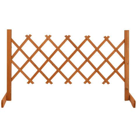 "main image of ""Garden Trellis Fence Orange 120x60 cm Solid Firwood"""