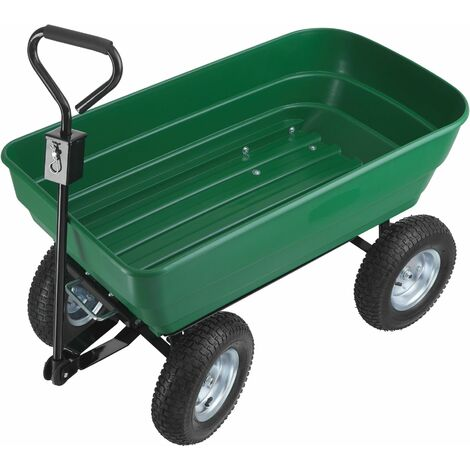 Garden trolley Tummi 125l - hand truck, hand cart, garden trolley cart - green