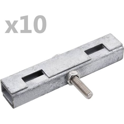 Garden U Mat Connector 10 Sets Silver