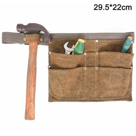 Garden Waist Pack Hanging Bag, Garden Tool Canvas Belt Bag, Heavy Duty Tool Holder Bag for Men / Women, Tool Waist Belt