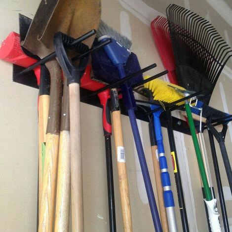 Garden Wall Mounted Tool Hanger Shed Garage Secure Hold Tidy Organiser Rack Hang