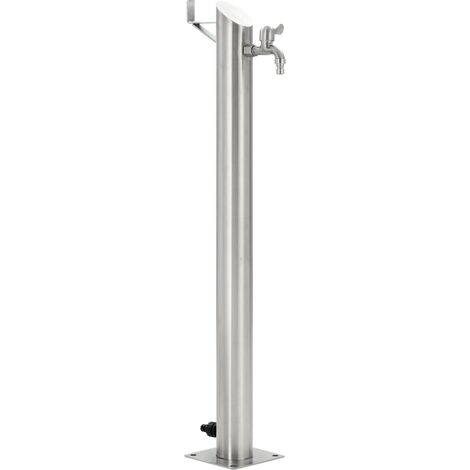 Garden Water Column Stainless Steel Round 95 cm