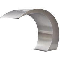 Garden Waterfall Pool Fountain Stainless Steel 45x30x60 cm