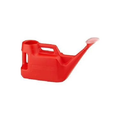 Garden Watering Can 7 Litres - Red Plastic With Pouring Spout for Weed Control