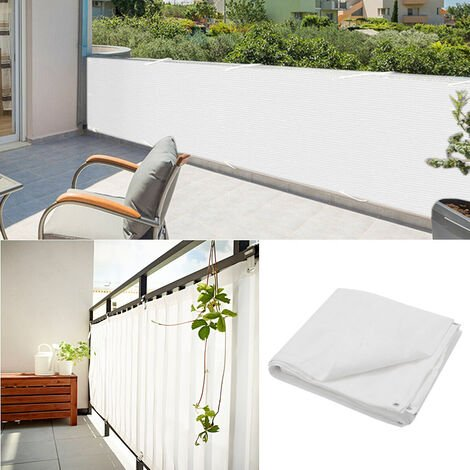 Garden White Privacy Screen Fence Sunshade Screening Fencing