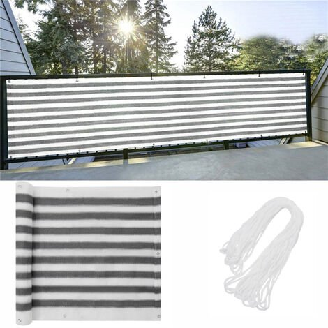 Garden White&Grey Privacy Screen Fence Sunshade Screening Fencing