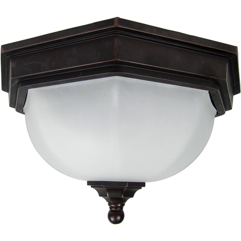 Garden Zone Fairford Ceiling Flush Lantern 2 x 40W E27 220-240v 50hz IP44