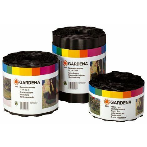Gardena 00530-20 Bordure de Platebande Brun 9 cm x 9 m