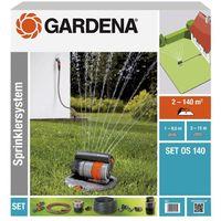 GARDENA 08222-20 Sprinklersystem Komplett-Set mit Versenk-Viereckregner OS 140 - Aktion