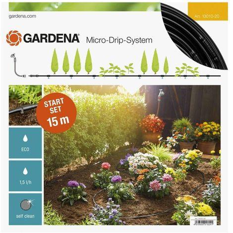 Gardena 13010-20 Set de inicio para hileras S 15m Para plantas sensibles la cocina y plantas ornamentales