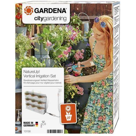 Gardena 13156-20 NatureUp Set riego Vertical Grifo Para regar hasta 27 plantas o 9 recipientes con suministro agua