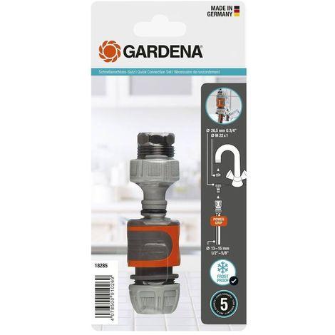 """main image of """"Gardena 18285-20 Kit de conexion triple Para grifos cocina y mangueras interior 13 15mm"""""""