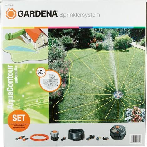 Gardena 2708-20 Kit complet avec arroseur escamotable multi-surfaces AquaContour automatic