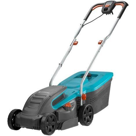 Gardena 5032-20 Cortacesped electrico PowerMax 1200 32 1200W con un ancho corte 32cm Para 300m2 Ajuste QuickFit