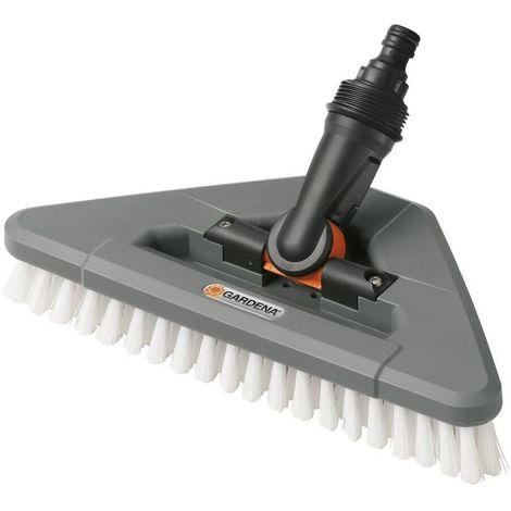 Gardena 5562-20 Cepillo triangular cerdas duras Para limpieza superficies resistentes Compatible con Cleansystem