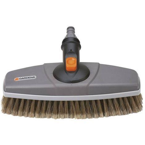 Gardena 5570-20 Cepillo cerdas blandas Para limpieza de superficies delicadas Compatible con mangos Cleansystem