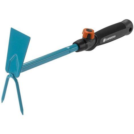 Gardena 8913-20 Azada 2 dientes Combisystem Acero revest duroplast Para mover la tierra airear y mezclar