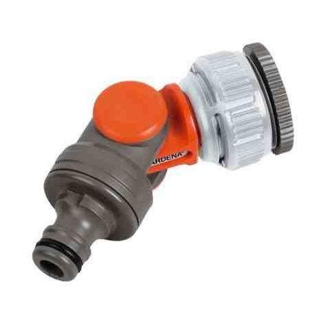 "Gardena angled rotating swivel garden tap connector adaptor 1"" / 3/4"" inch bsp"